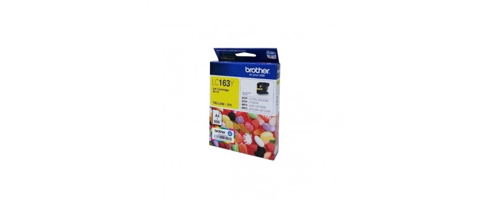 Brother LC163 Y Ink cartridge, Yellow