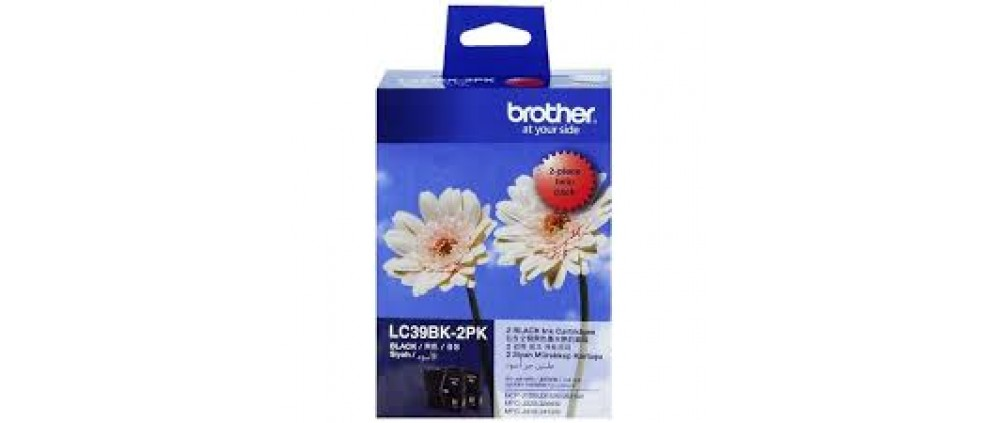 Brother LC39BK-2PK Ink cartridge, Black